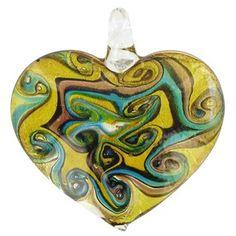 Bead Treasures Swirl Glass Heart Pendant | Shop Hobby Lobby