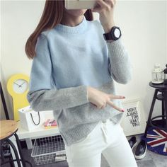 Colour Block Knit Top