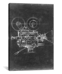 Camera Blueprints II Gallery-Wrapped Canvas