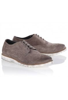 Twisted Soul Suede Brogue Shoes Grey @ Men's and Woman's Designer Clothing at Blue Inc Novelty Christmas Jumpers, Looking Dapper, Well Dressed Men, Brogues, Your Shoes, Designing Women, Men's Clothing, Groomsmen, Cole Haan