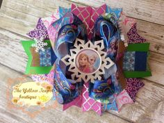 FROZEN SISTERS BOW by YellowTeapotBoutique on Etsy