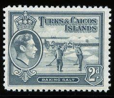 King George VI Turks and Caicos 1938