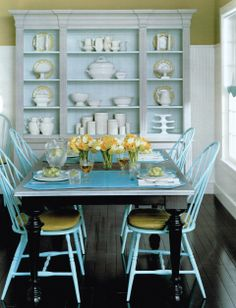 Country Blue Dining Room
