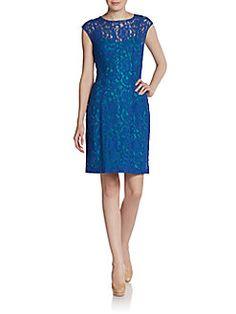 Graduation dress! Saks Fifth Avenue BLACK - Lace Illusion dress