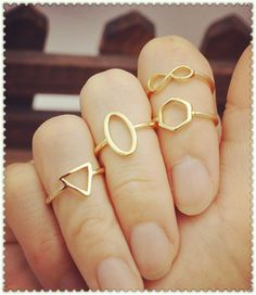 New fashion jewelry Infinity round Geometric finger ring set 1set=4pcs for women girl R1086