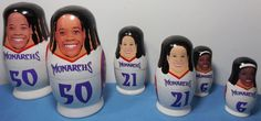 Set of 2 Sacramento Monarchs Babooshkah Nesting Dolls Smith, Penicheiro &…