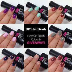 DIY Hard Nails - New Gel Polish Colors & GIVEAWAY