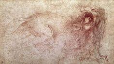 Leonardo Da Vinci - Sketch of a Roaring Lion