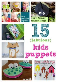 15 fabulous ides for puppets kids can make and ideas for how to use them with play, stories, songs