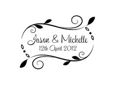 Personalized Handle Mounted gift wedding rubber stamps W30