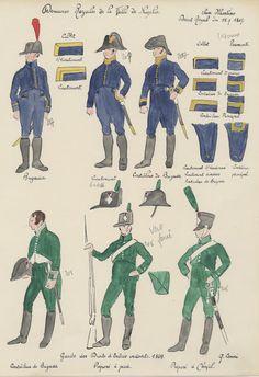 Douanes Royales de la ville de Naples 1807 et Garde des droits d'entrée 1809