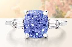 Sapphire and baguette diamond ring - Brilliant Earth