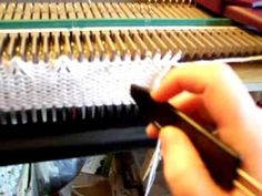 Knitting the Tuck Lace trim for the Blue Belle sweater - YouTube