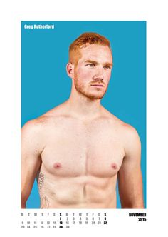 #redhot #redheads Mr November - Capture the spirit of the RED HOT exhibitions and tour in a calendar for anyone who appreciates hot men with red hair. £20