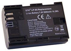 Camera Battery LP E6 E6N 2600 mAH for Canon 5D Mark III IV 6D 7D 70D 80D DSLR #STK 70d, Circuit, Cameras, Canon, Lens, Camera, Big Guns, Camera Phone