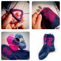 Flowers socks start to finish. #Socks #knittersofinstagram #handmade www.socksandco.net #drops #yarns