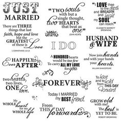 Fiskars Quotes Clear Stamps Just Married - Paper Crafting - Stamping - Stamps at JOANN