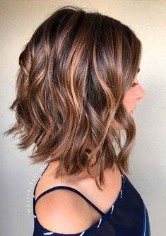 Balayage, Curly Lob Hairstyles