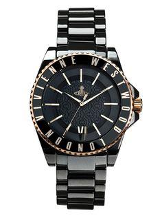 Women's Round Black Ceramic Watch from Vivienne Westwood Watches on Gilt