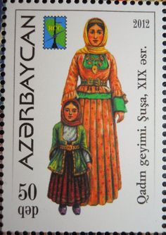 Stamps, covers and postcards of traditional/folk costumes: Stamps / Costumes - Azerbaijan / Azerbaidžanas