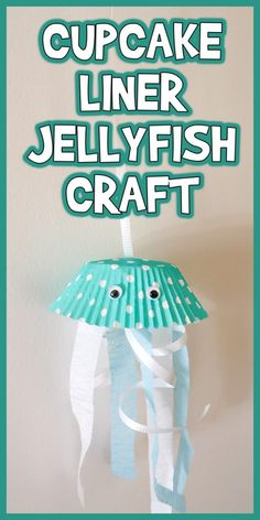 Let& learn how to make this Cupcake Liner Jellyfish Craft! It& an easy project for any under the sea or ocean learning theme! Sea Crafts, Baby Crafts, Crafts To Do, Preschool Crafts, Diy Crafts For Kids, Craft Kids, Simple Crafts, Easter Crafts, Christmas Crafts