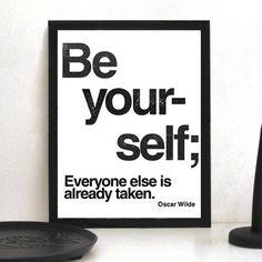 Be Yourself Print by Maridee Studio