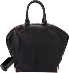 Alexander Wang small Emile bag- love the shape adds interest to the classic black
