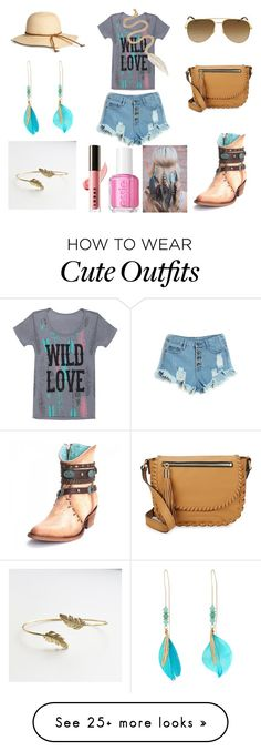 """""""Cute Western Style Outfit"""" by holly32196-1 on Polyvore featuring Grayson, Milly, Yves Saint Laurent, GUESS, LeiVanKash, Essie and LORAC"""