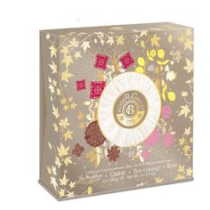 Roger & Gallet Soap Gift Set - 4 Fragrances, 3.5 Oz Each by Roger & Gallet. $34.26. Citron Soap 3.5 oz. Each individually wrapped and presented in a luxurious giftable box. Bois d'Orange Soap 3.5 oz. Rose Soap 3.5 oz. Jean Marie Farina Soap 3.5 oz. Launched by the design house of Roger & Gallet, this elegant gift set includes 4 perfumed soaps in Jean Marie Farina, Citron, Bois d'Orange and Rose scents. Each individually wrapped and presented in a luxurious giftable box perfect f...