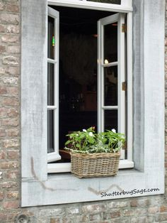 Open Window.  Maastricht, Netherlands.