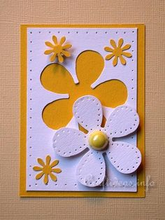 ATC Craft - Flower Power ATC with White Daisy Motif