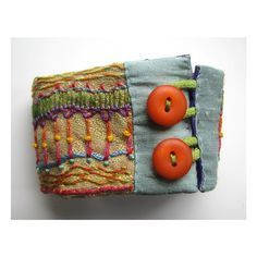 Carla of Madrigal Embroidery creates fun hand embroidered cuff from old upholstery fabric samples. Fiber Art Jewelry, Mixed Media Jewelry, Textile Jewelry, Fabric Jewelry, Jewellery, Beaded Embroidery, Embroidery Stitches, Hand Embroidery, Fabric Art