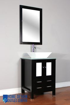 Aw 125 24 24 Single Modern Bathroom Vanity Set Espresso Home