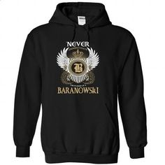 BARANOWSKI - Never Underestimated - #shirt prints #tshirt customizada. SIMILAR ITEMS => https://www.sunfrog.com/Names/BARANOWSKI--Never-Underestimated-tscmbxoyhd-Black-47104595-Hoodie.html?68278