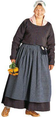 Viitasaaren naisen kansallispuku. Kuva © Suomen käsityön museo Folk Costume, Costumes, Mori Fashion, Home Sew, Traditional Dresses, Midi Skirt, Folklore, Mori Style, Outfits