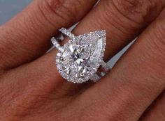Ummmm love me a pear diamond with some pave and split shanks .....
