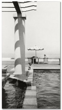 Jacques-Henri Lartigue - Renée at the pool. Chambre d'Amour. Biarritz, 1930.