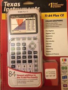 NEW-Texas Instruments TI-84 Plus CE White - Color Graphing Calculator Silver Ed #TexasInstruments