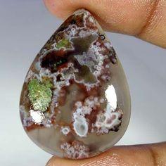 53.75Cts. 100% Natural Pseudomorph Agate Pear Cabochon Attractive Rare Gemstones #Handmade