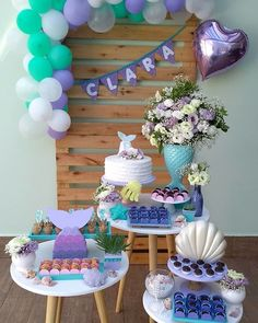 1 million+ Stunning Free Images to Use Anywhere Baseball Theme Birthday, Mermaid Theme Birthday, Little Mermaid Birthday, Little Mermaid Parties, The Little Mermaid, Girl Birthday, 1st Birthday Parties, Birthday Party Decorations, Mermaid Baby Showers