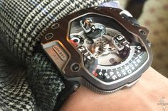 URWERK UR 110 Eastwood- will be limited to 5 pieces in each of the two woods and will come with two tweed straps as well as a simpler black Kevlar fabric strap for those days you're not suiting up.