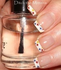 steelers nail designs..yes please!