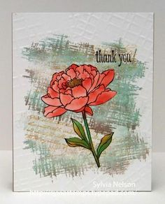 thank you card by Sylvia Nelson.... using SU 2015-2017 new In Colors: Watermelon Wonder, Delightful Dijon, Cucumber Crush, Mint Macaron, and Tip Top Taupe