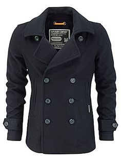 Commodity slim pea coat
