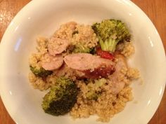 Roasted Garlic Quinoa with Chicken and Broccoli... Clean and healthy!