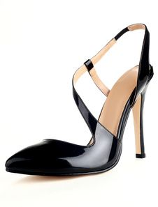 Grace Black Pointed Toe Patent Suede
