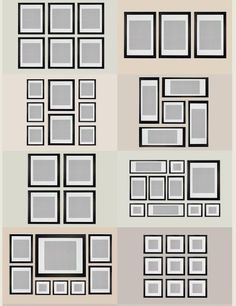Picture Frame Design Ideas decorating ideas for family pictures Gallery Photo Wall Ideas