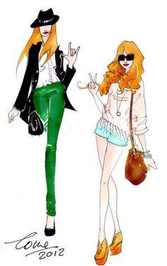 UN GRAZIE SPECIALE A TUTTE VOI - disegni fashion blogger    www.scentofobsession.com
