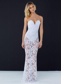 Caught In A Net Mermaid Maxi Dress YELLOW WHITE - GoJane.com