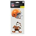 Cleveland Browns - Set of Two 4x4 Die Cut Decals